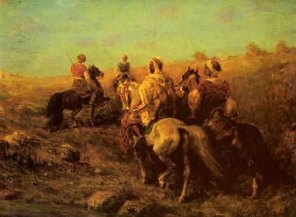 Arabian Horsemen Near A Watering Place